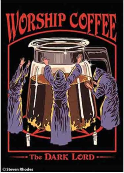 Worship Coffee Magnet