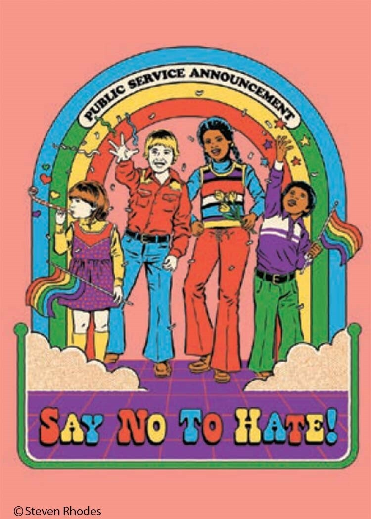 Say No To Hate! Magnet