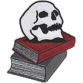 Skull On Books Patch