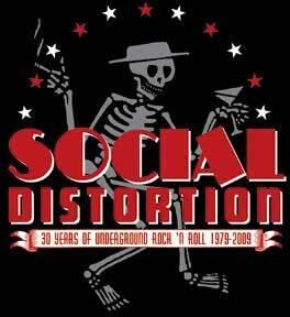 Social Distortion Skelly & Logo Sticker