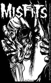 Misfits Skull Holding Eyeball Sticker
