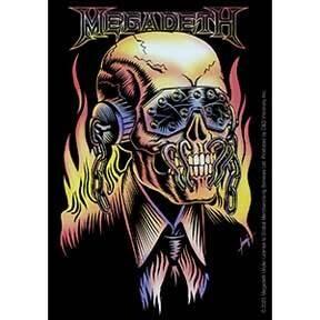 Megadeth On Fire Sticker