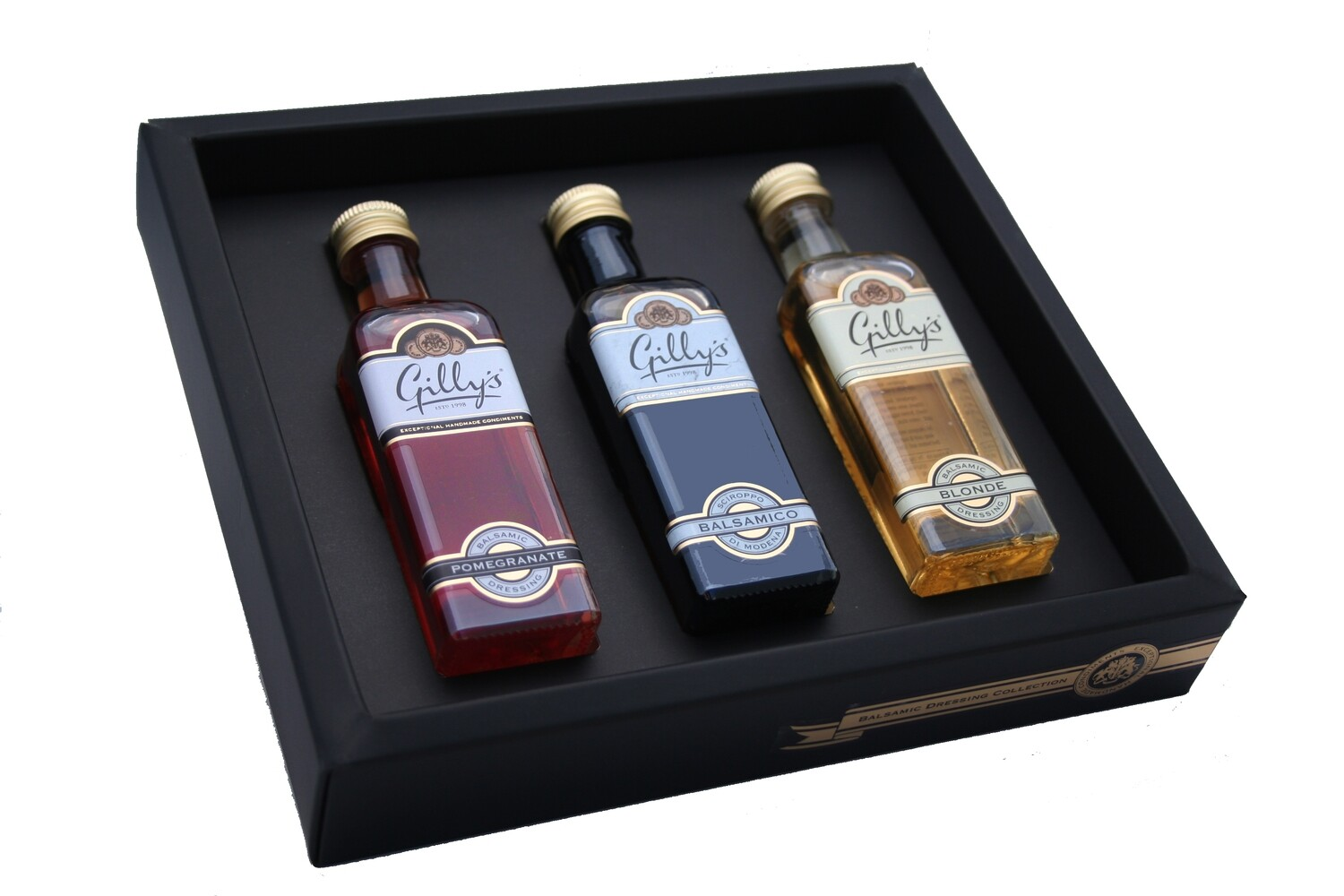 Miniature Balsamic Dressing Collection Pomegranate+Blonde+Syrup 3 x 60 ml