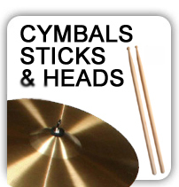 Drum - Cymbals, drum heads and sticks available