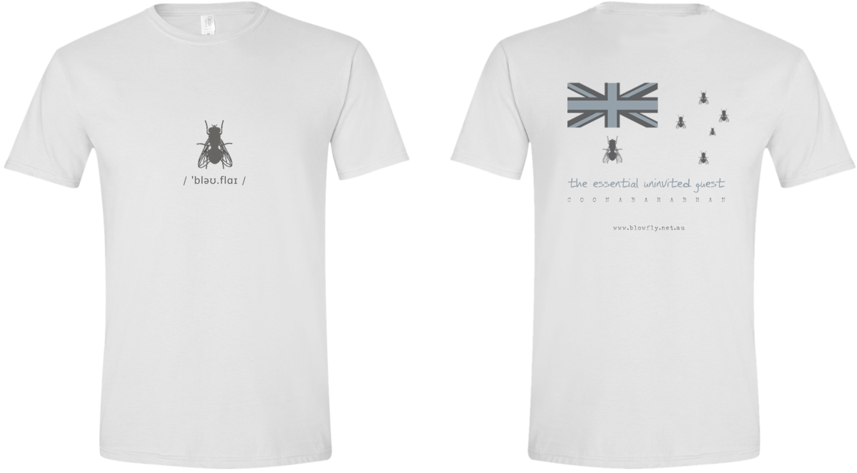 Blowfly T-shirt (flag) white