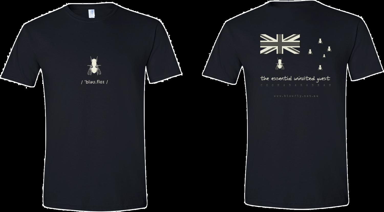 Blowfly T-shirt (flag) black