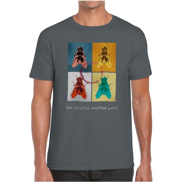 Blowfly T-shirt (warhol) charcoal