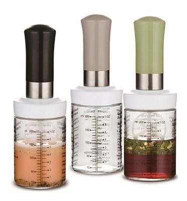 Glass Salad Dressing Shaker Bottle
