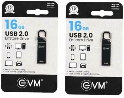 EVM ENSTRONE METAL BODY 16 GB Pen Drive  (Silver)
