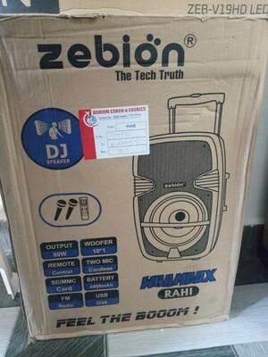 Zebion Trolly Speaker with 2 wireless Mic