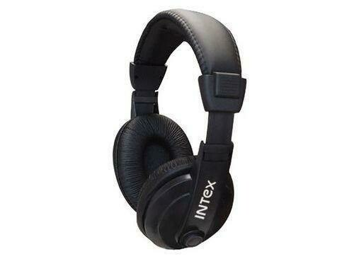 Intex Mega Headphone Wired Headset with Mic and Volume Control (double Pin connectors)