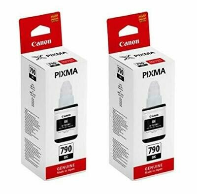 Canon Gi 790 Black Twin Pack Ink Bottle - Set of 2