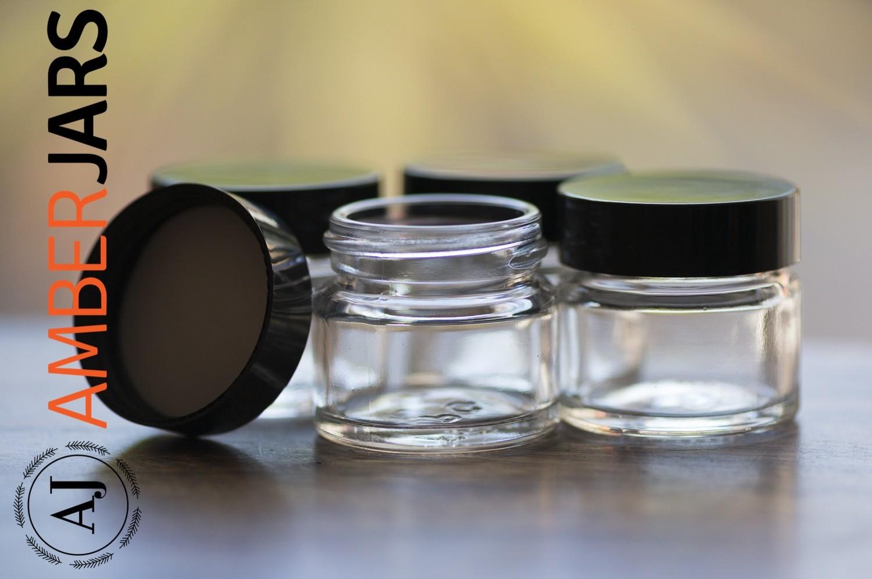 15ml Clear Glass Jar - Lip Balm, Herbal ointment, balms