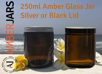 250ml Amber Glass Jar