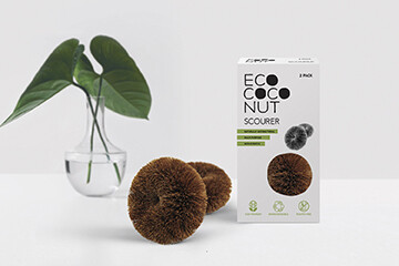 Eco Coconut Twin Pack Scourers - Kitchen and Bathroom