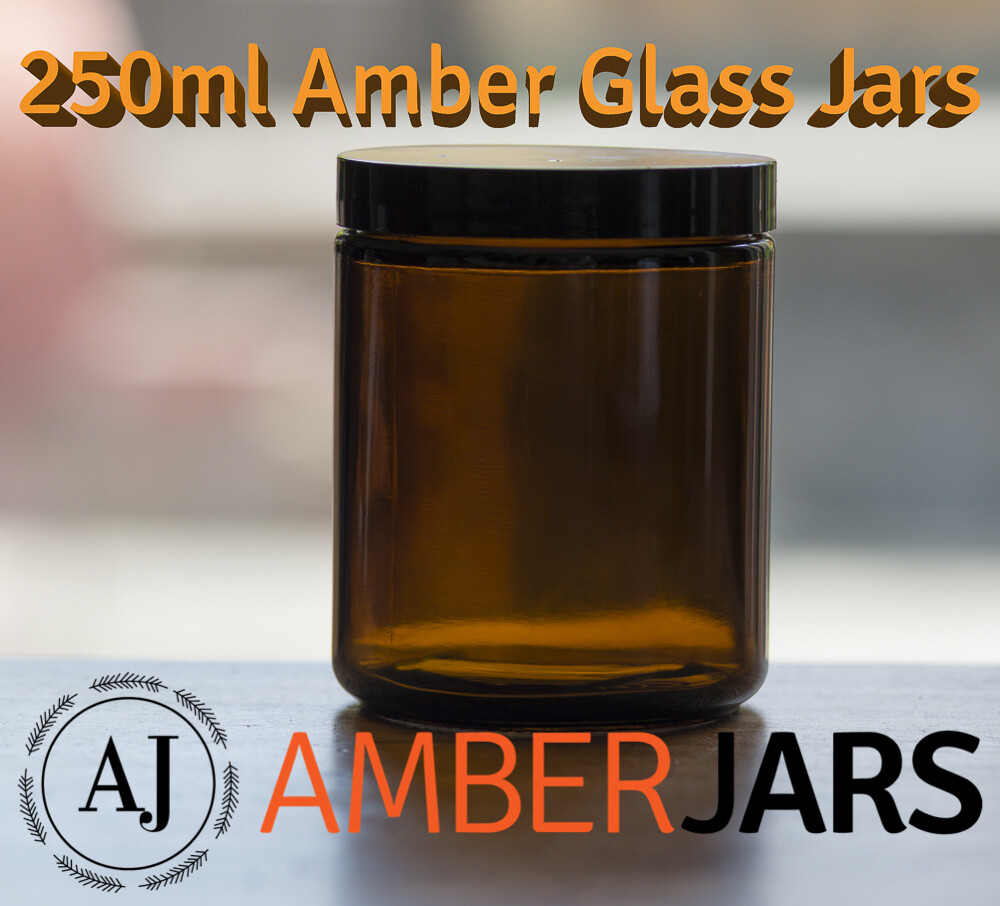 250ml Amber Glass Jar