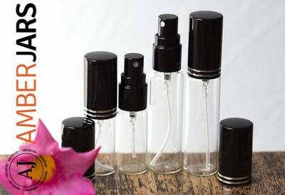5ml Glass Bottle Fine Mist Spray - Aromatherapy, perfume, sample bottle