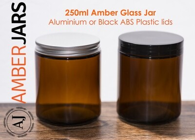 100 x 250ml Amber Glass Jar - BUY bulk and SAVE
