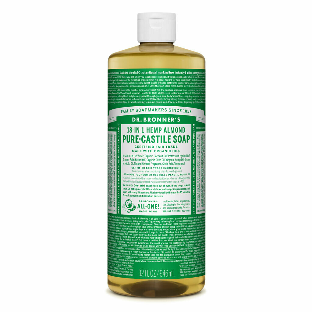 Dr. Bronner's 18-in-1 Pure-Castile Soaps - Almond