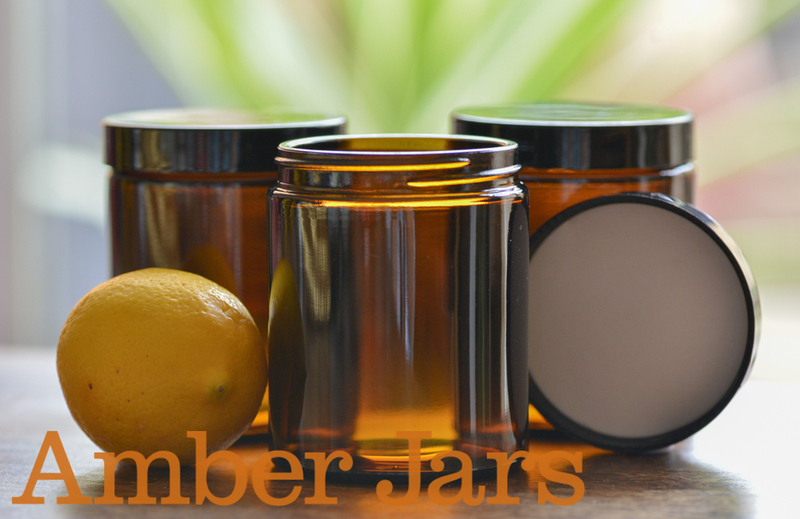 20 x 175ml Glass Amber Jars with Black Wadded Lid. Postage Included