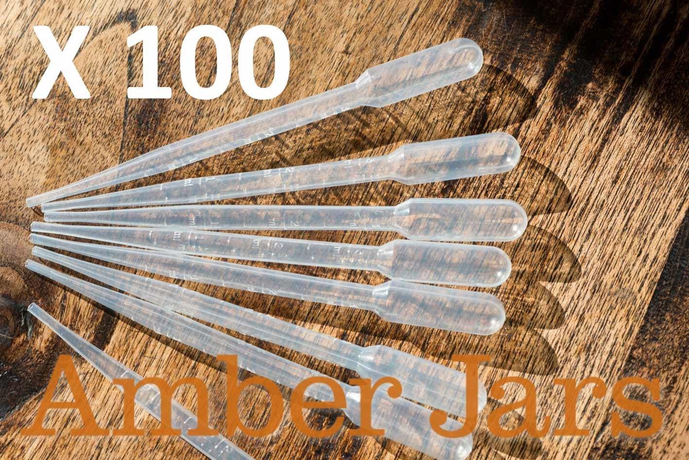 100 x 3ml Plastic disposable Pipettes
