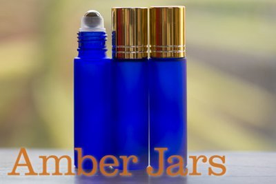 10ml Frosted Blue glass Roller ball Bottle Stainless Steel ball- Aromatherapy / perfume G