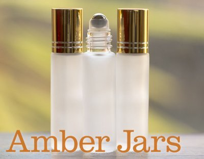 10ml Frosted Clear glass Roller ball Bottle Stainless Steel ball- Aromatherapy / perfume G