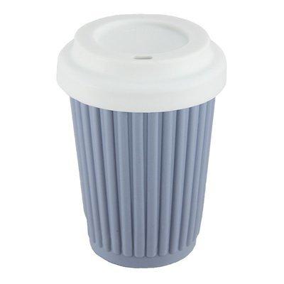 BYO Coffee Cup Regular Grey Blue (345ml)