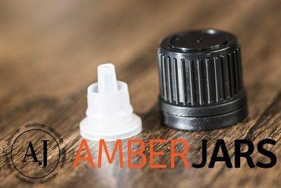 Tamper Evident black Cap with Drippper insert