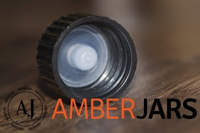 Black Cap with Cone insert for 18mm Bottle