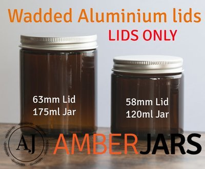 63mm ALUMINIUM Wadded Lid LIDS ONLY