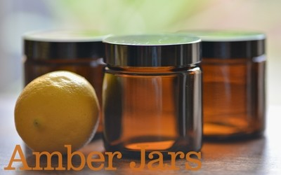 98 x 120ml Glass Amber Jars - Cosmetics Candles Spice Coffee