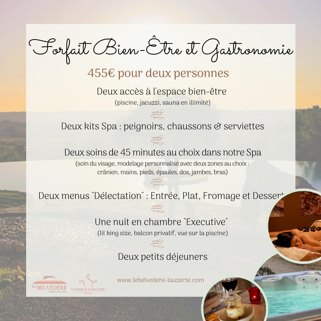"""Forfait """"Bien-Être & Gastronomie"""""""
