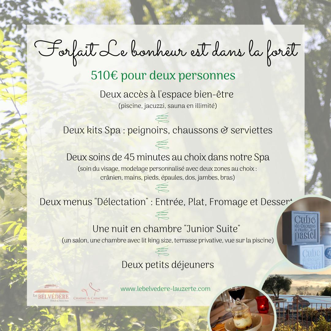 """Forfait """"Le Bonheur est dans la Forêt"""""""