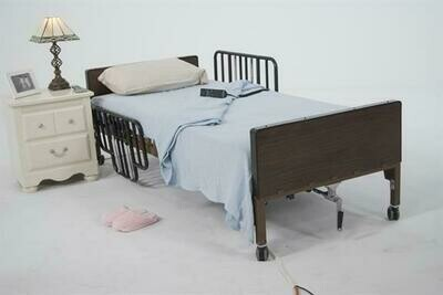 Semi-Electric Bed with Half Rails
