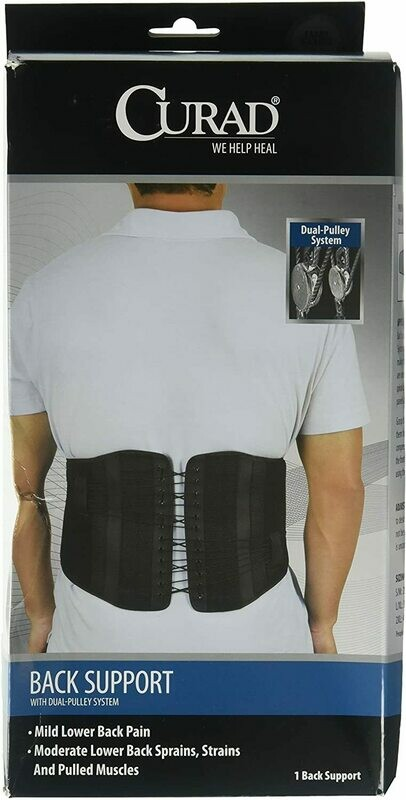 Back Support With Dual-Pulley System