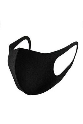 Black Face Mask | Washable & Reusable, 3pack
