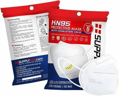 Disposable KN95 Face Masks, 5pcs