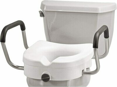 Raised Toilet Seat with Removable Arms (NOVA)