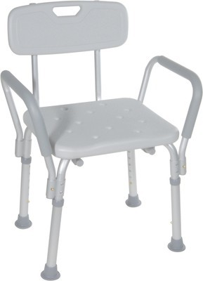 Shower/Tub Bench with Padded Arms & Back (NOVA)
