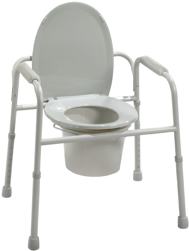Commode with Bucket Folding