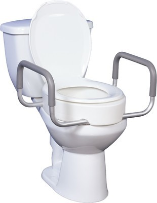 Raised Toilet Seat with Arms (Essential Medical)