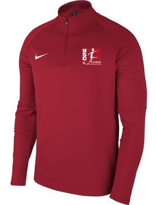SWEAT DEMI ZIP AC18 ADULTE NIKE CARRIERES SUR SEINE FOOTBALL