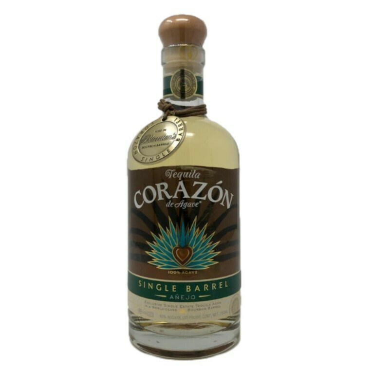 Corazon Single Barrel Anejo Blanton's Barrel Aged Tequila