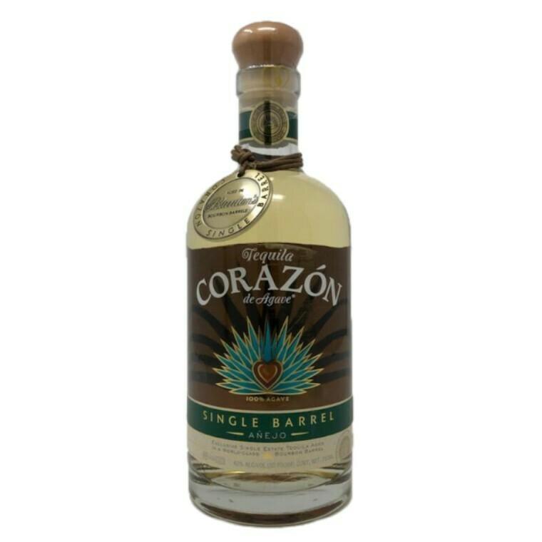 Corazon Single Barrel Anejo Blanton's Barrel Aged Tequila