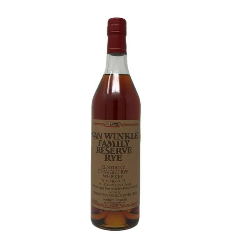 Van Winkle 13 Year Reserve Rye Whiskey