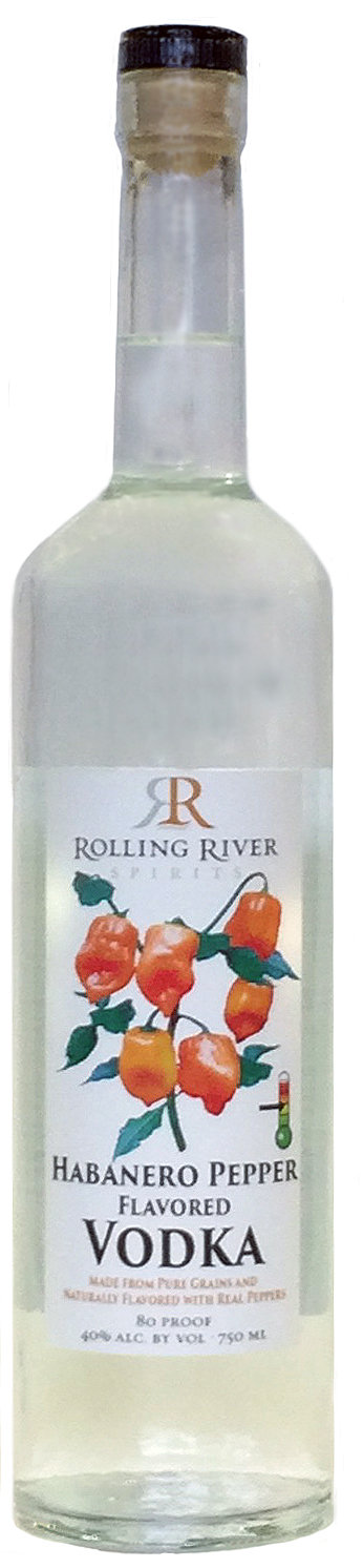 Rolling River Spirits Hot Habanero Pepper Flavored Vodka
