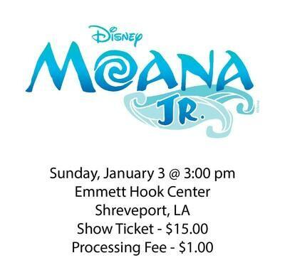 Disney's Moana JR., Sunday January 3rd @ 3:00 pm