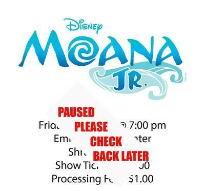 Disney's Moana JR., Friday January 1st @ 7:00 pm