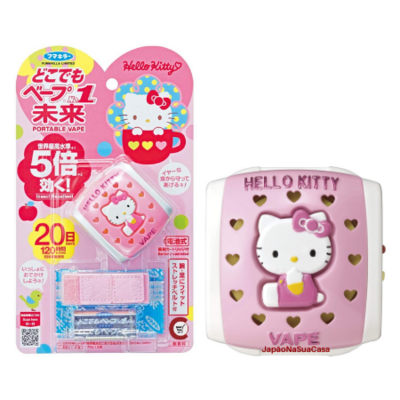 "Fumakilla Portable VAPE Insect Repellent ""Hello Kitty"" (repelente de insetos)"